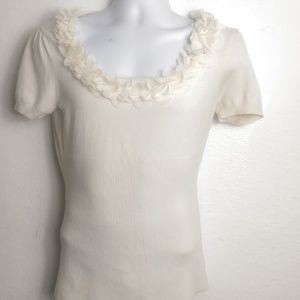 Audrey & Grace Scoop Ruffled Top Ivory FINAL Firm